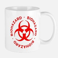 Red Biohazard Symbol Mug
