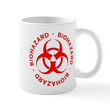Red Biohazard Symbol Mug