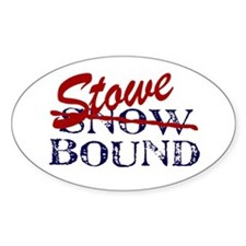 Stowe Bound Oval Bumper Stickers