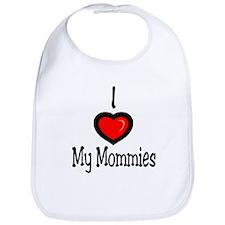 """I """"Heart"""" My Mommies Bib"""