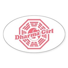 LOST Dharma Girl Oval Decal