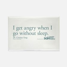 I get tired... - Grey's Anatomy Rectangle Magnet