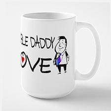 Double Daddy Love Large Mug