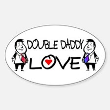 Double Daddy Love Oval Decal