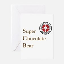 SCB Super Chocolate Bear Greeting Cards (Pk of 10)