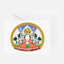 Tibet Tibetan Emblem Greeting Card