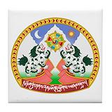 Tibetan coat of arms Tile Coasters