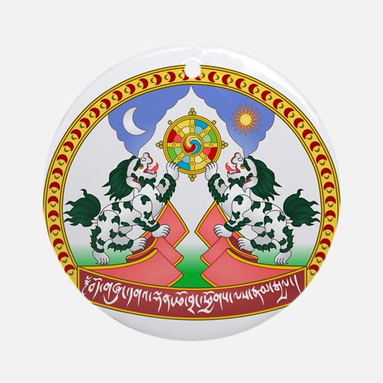 Tibet Tibetan Emblem Ornament (Round)
