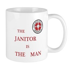 The Janitor is the Man Small Mug