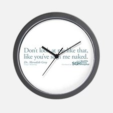 Don't look... - Grey's Anatomy Wall Clock