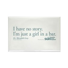 Girl in a Bar - Grey's Anatomy Quote Rectangle Mag