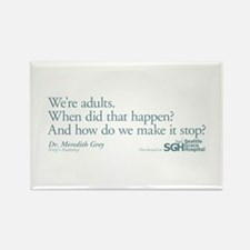 We're Adults - Grey's Anatomy Quote Rectangle Magn