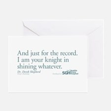 For the Record... - Grey's Anatomy Greeting Card
