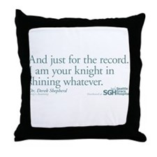 For the Record... - Grey's Anatomy Throw Pillow