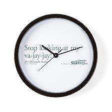 Va-jay-jay - Grey's Anatomy Wall Clock