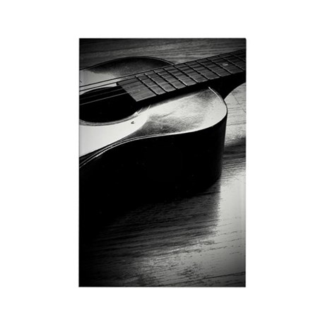 Old Guitar (P) Rectangle Magnet (10 pack)