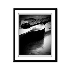 Old Guitar (P) Framed Panel Print
