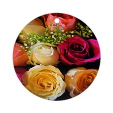 Colorful Roses Ornament (Round)