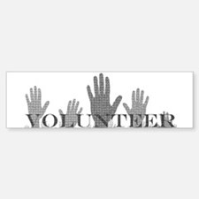 Volunteer Hands Bumper Bumper Bumper Sticker