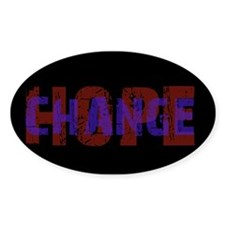 Change Hope Oval Decal