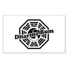 LOST Dharma Bum Rectangle Decal