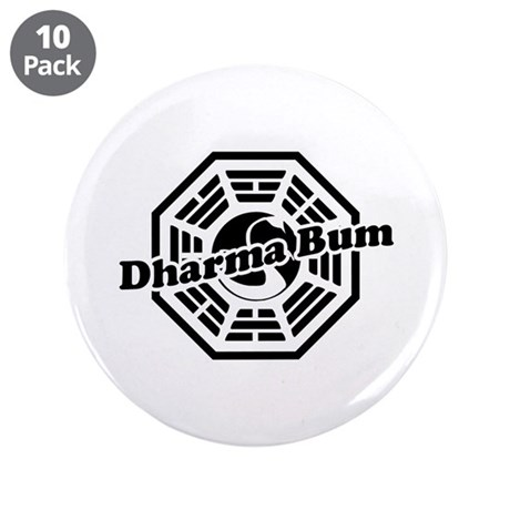 """LOST Dharma Bum 3.5"""" Button (10 pack)"""