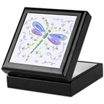 Blue Dragonfly Keepsake Box