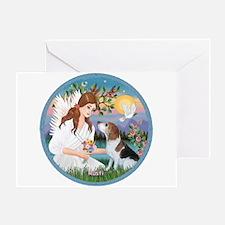 Angel Love & Beagle Rusti Greeting Card
