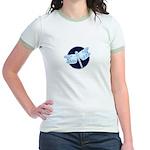 Crystal Blue Dragonfly Jr. Ringer T-Shirt