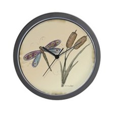 Dragonfly 4 Wall Clock