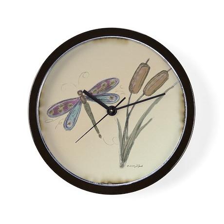 Dragonfly 4 Wall Clock