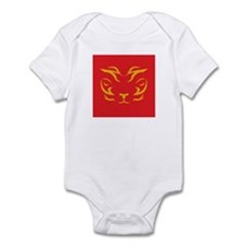 Red and Yellow Tiger Logo Infant Bodysuit