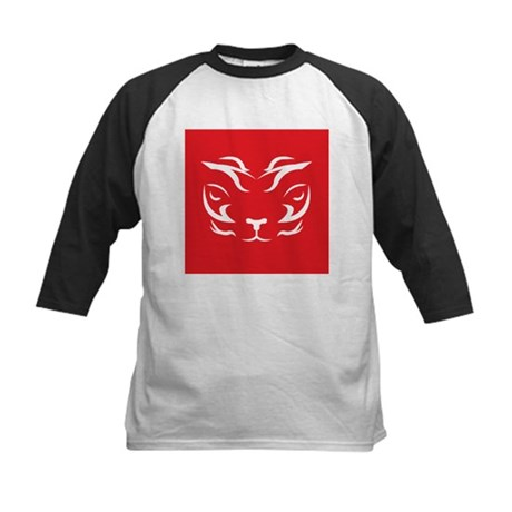 Red Tiger Logo Kids Baseball Jersey