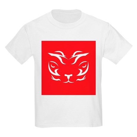 Red Tiger Logo Kids Light T-Shirt