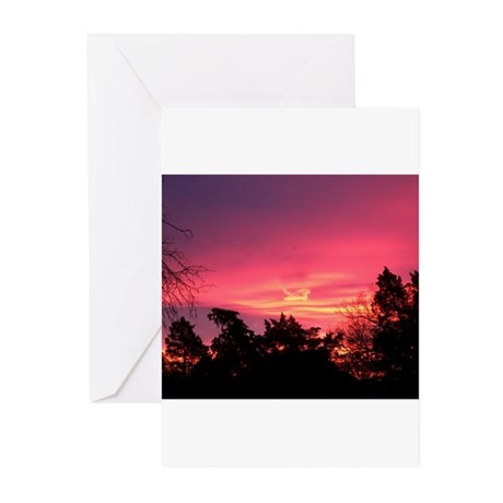 Pink Sunrise Greeting Cards (Pk of 10)