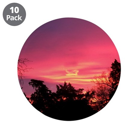 """Pink Sunrise 3.5"""" Button (10 pack)"""