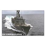 USS WADSWORTH Rectangle Sticker 10 pk)
