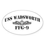 USS WADSWORTH Oval Sticker (10 pk)