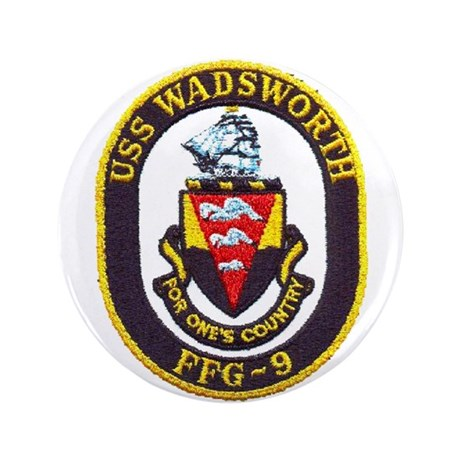 """USS WADSWORTH 3.5"""" Button (100 pack)"""