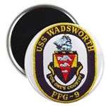 """USS WADSWORTH 2.25"""" Magnet (100 pack)"""