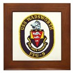 USS WADSWORTH Framed Tile