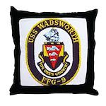 USS WADSWORTH Throw Pillow