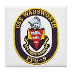 USS WADSWORTH Tile Coaster