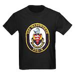 USS WADSWORTH Kids Dark T-Shirt