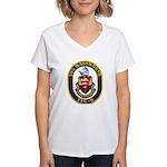 USS WADSWORTH Women's V-Neck T-Shirt