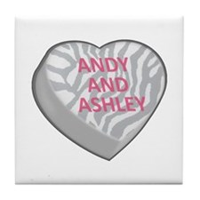 ANDY AND ASHLEY Tile Coaster