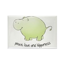 peace,love & hipponess Rectangle Magnet