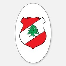 Lebanon Coat of Arms Oval Decal