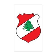Lebanon Coat of Arms Rectangle Decal