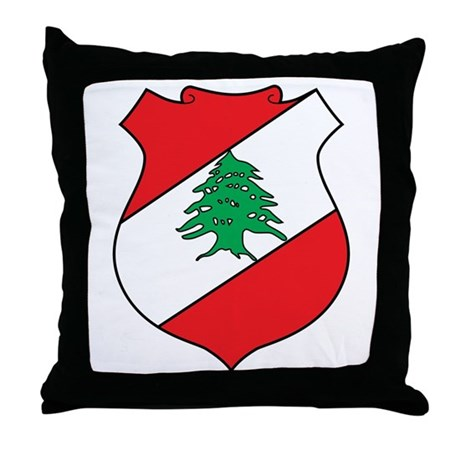 Lebanon Coat of Arms Throw Pillow